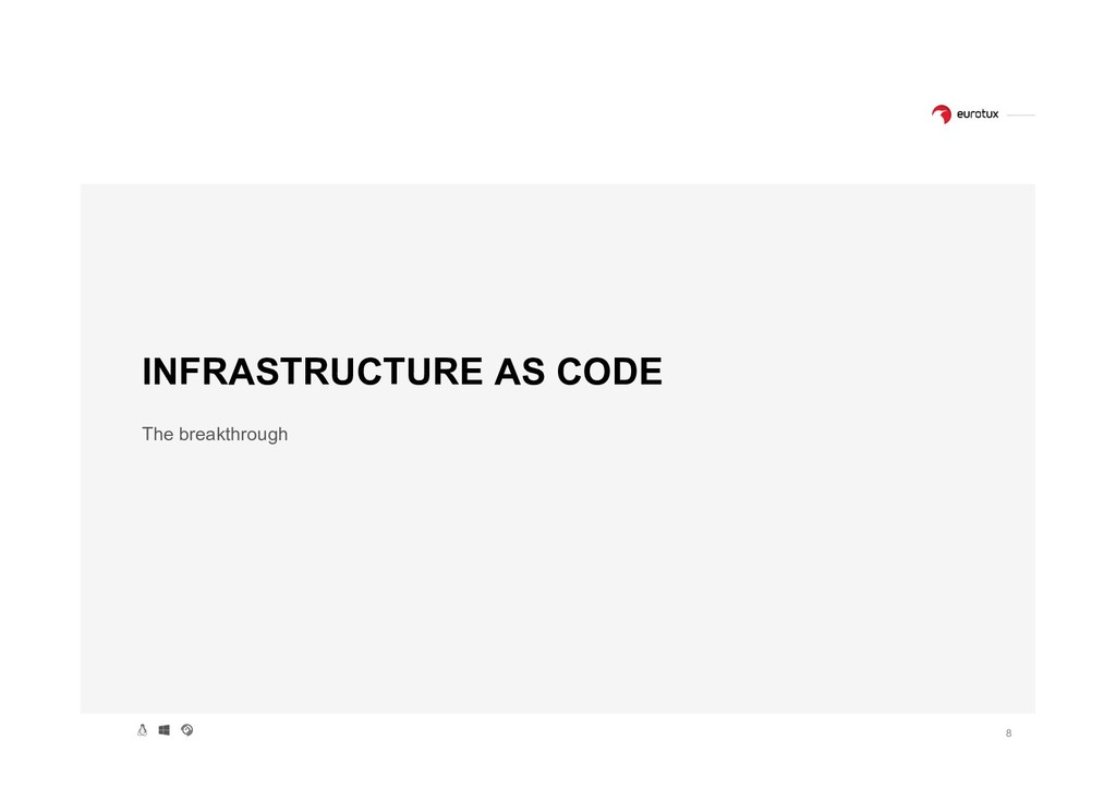8 INFRASTRUCTURE AS CODE The breakthrough