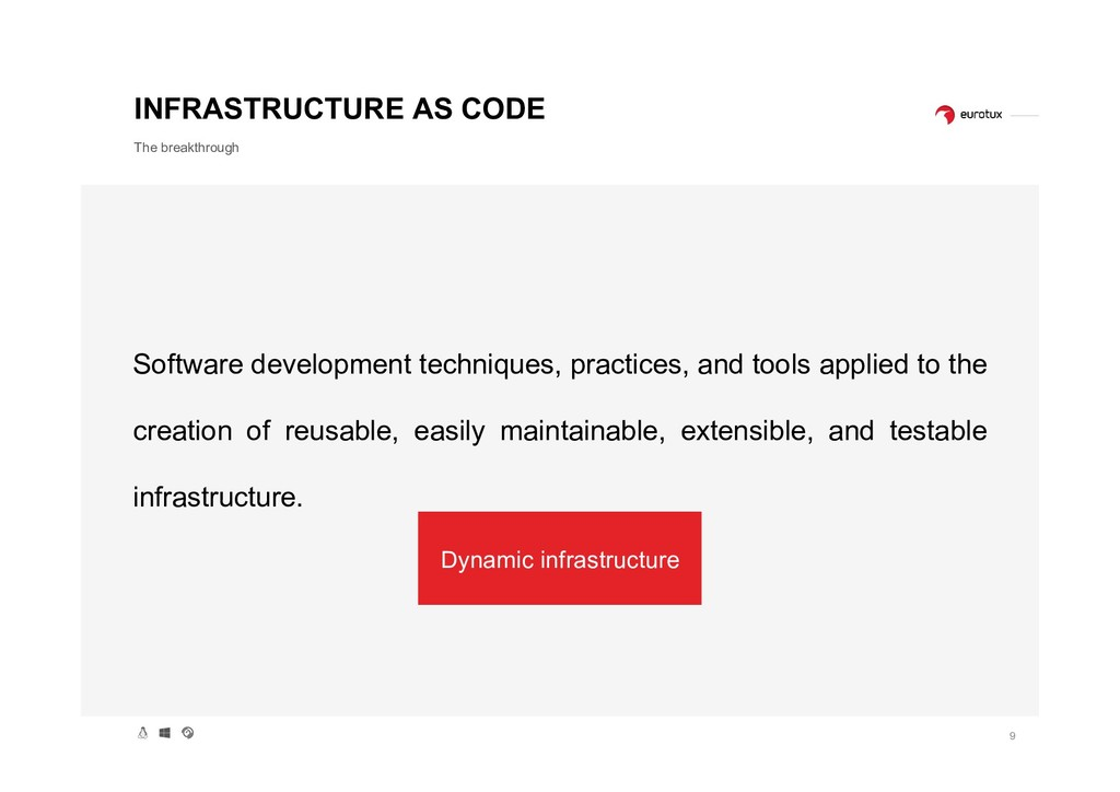 9 INFRASTRUCTURE AS CODE The breakthrough Softw...
