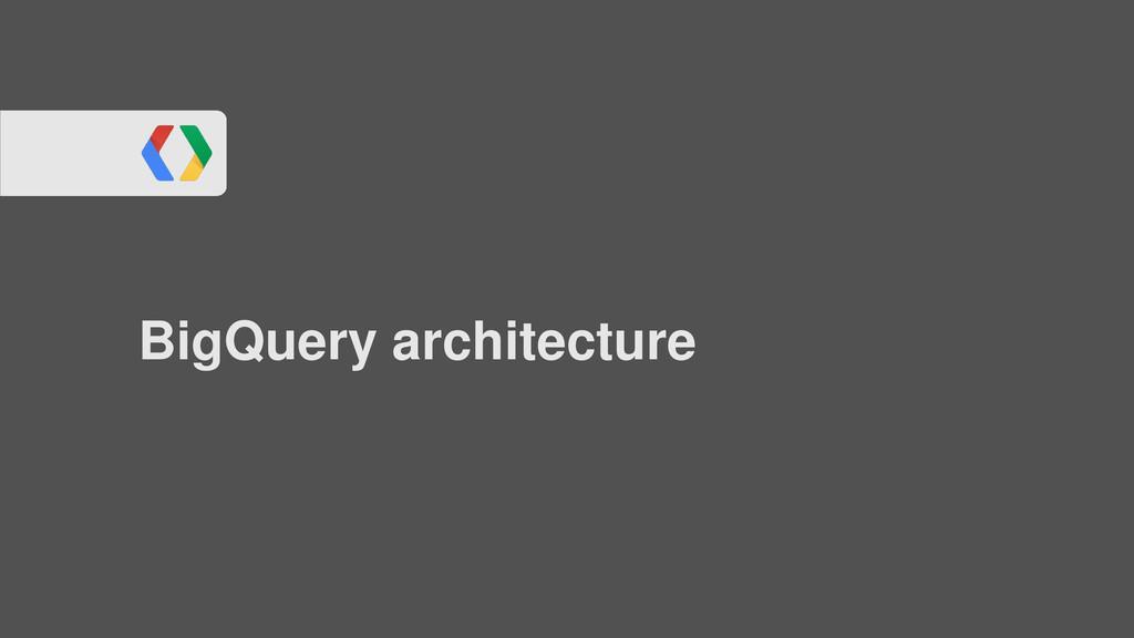 BigQuery architecture