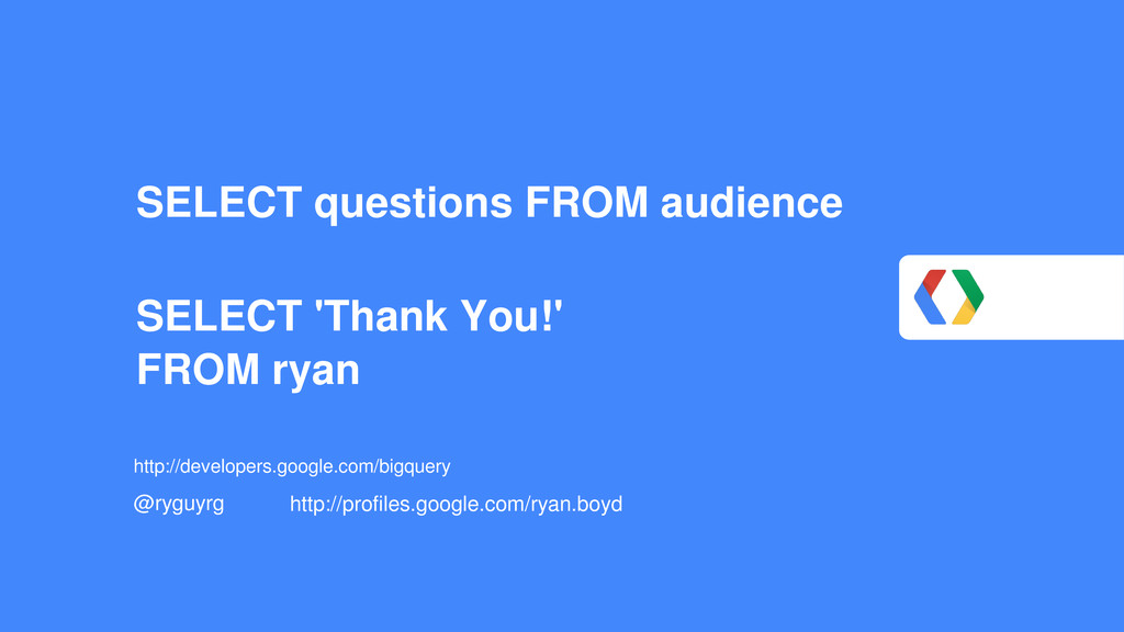 SELECT questions FROM audience SELECT 'Thank Yo...