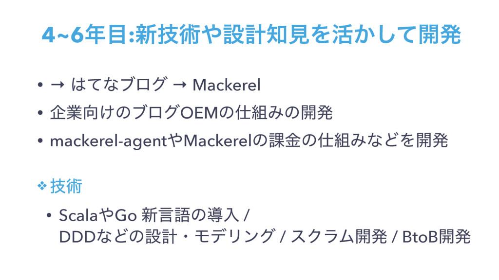 • → ͯͳϒϩά → Mackerel • اۀ͚ͷϒϩάOEMͷΈͷ։ൃ • ma...