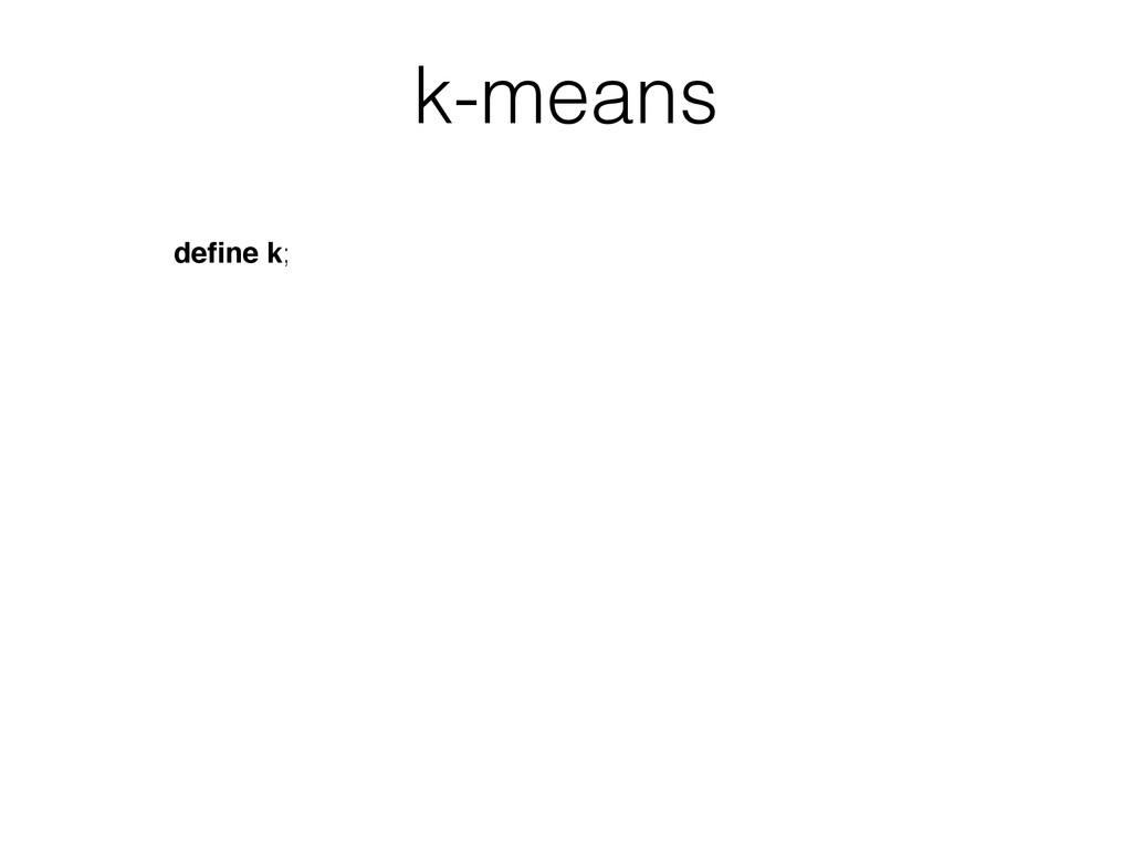 define k; k-means