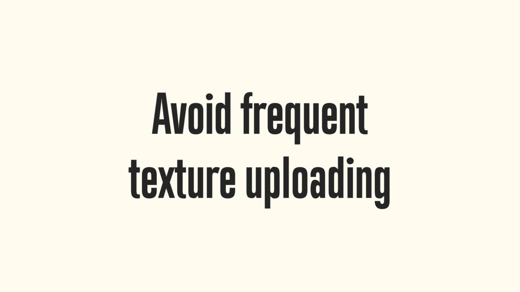 Avoid frequent