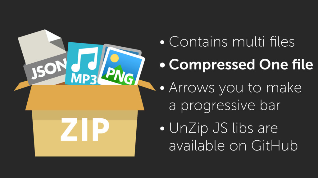 • Contains multi files • Compressed One file • Ar...