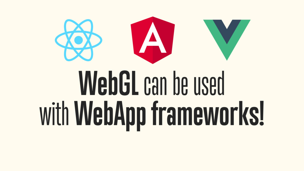 WebGL can be used