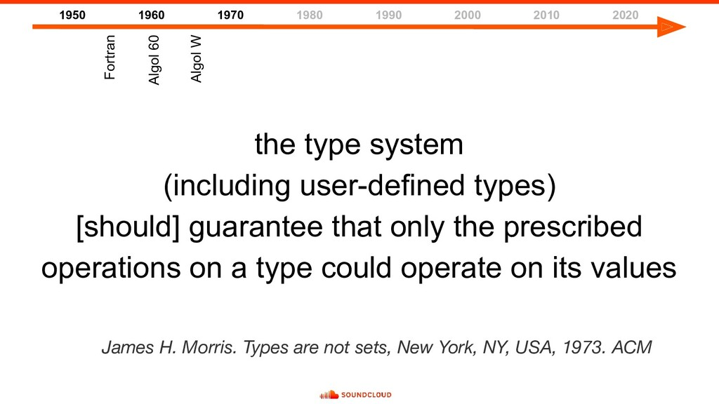 the type system (including user-defined types) ...