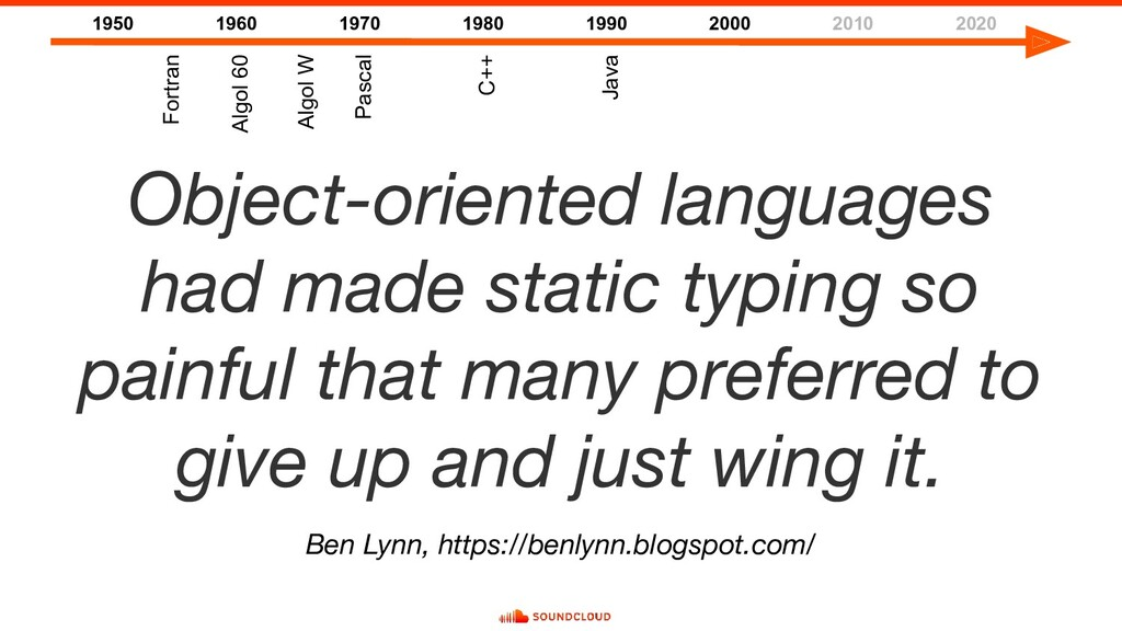 Object-oriented languages had made static typin...