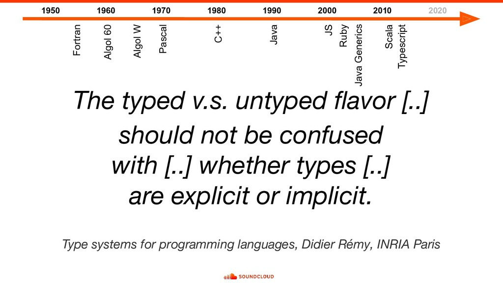 The typed v.s. untyped flavor [..] should not be...