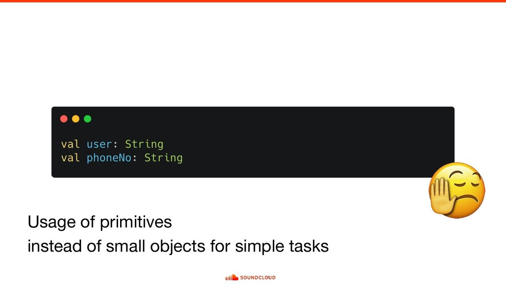 Usage of primitives instead of small objects fo...
