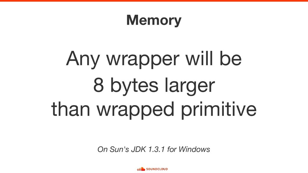 Memory Any wrapper will be 8 bytes larger than ...