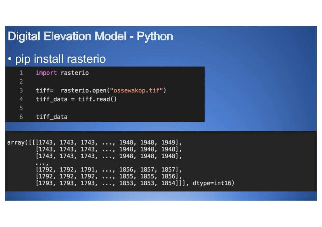 Digital Elevation Model - Python • pip install ...