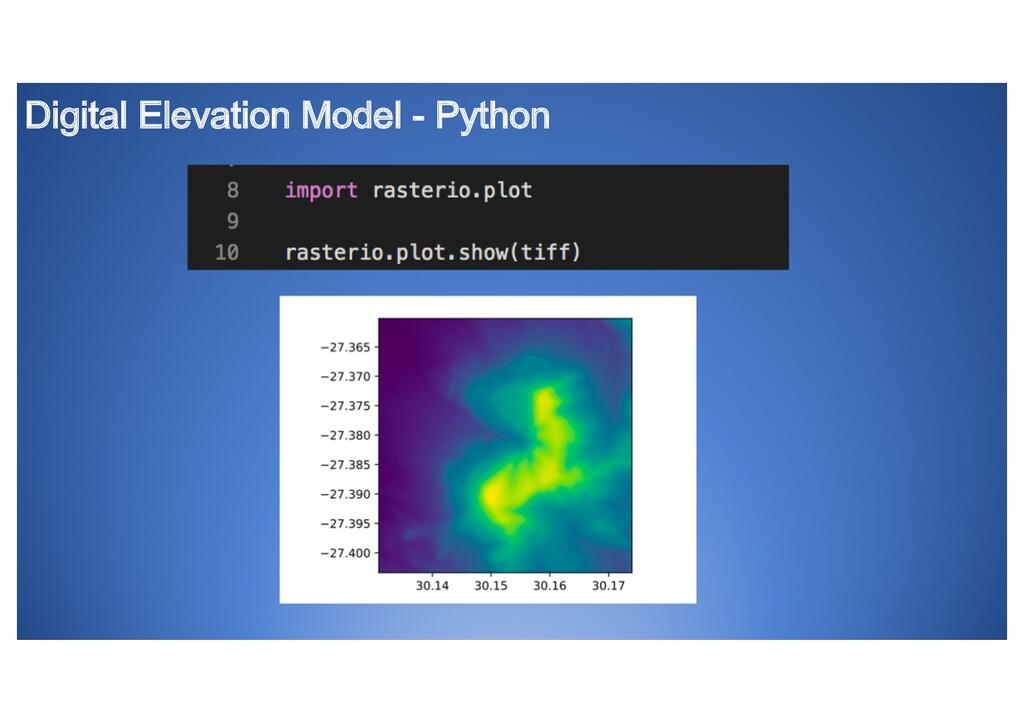 Digital Elevation Model - Python
