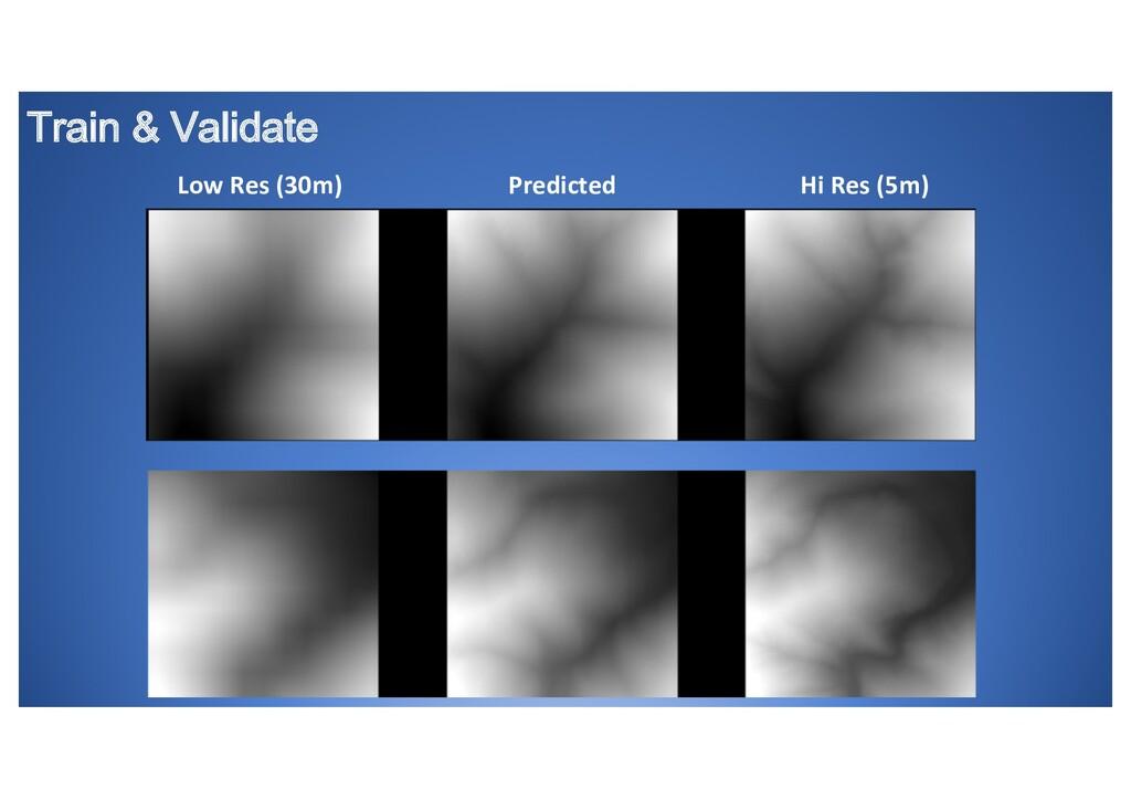 Train & Validate Low Res (30m) Predicted Hi Res...