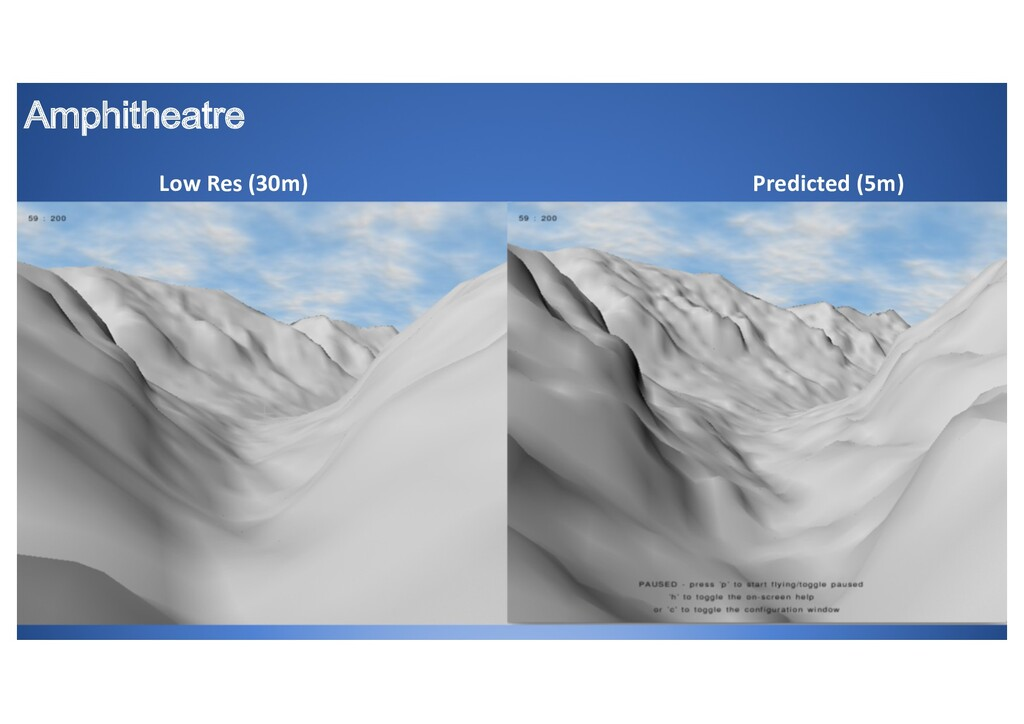 Amphitheatre Low Res (30m) Predicted (5m)