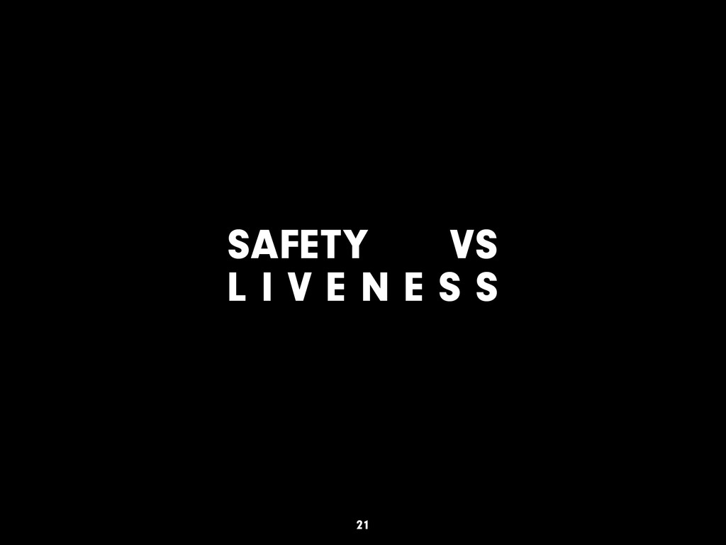 SAFETY VS L I V E N E S S 21