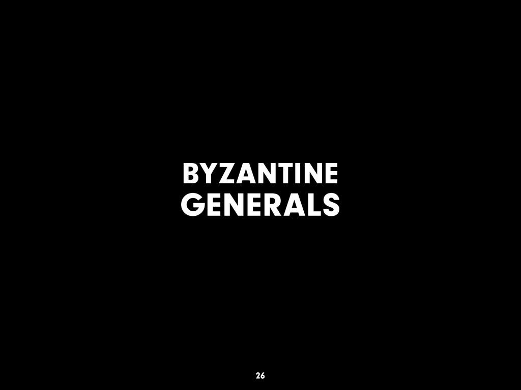 BYZANTINE GENERALS 26