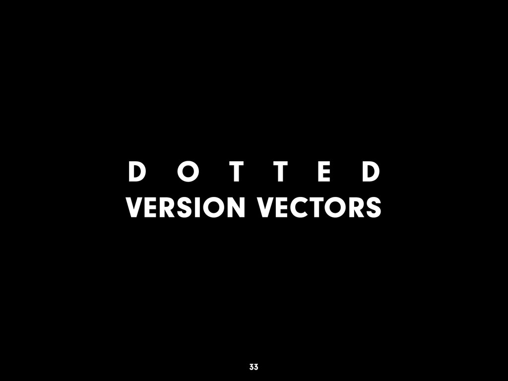 D O T T E D VERSION VECTORS 33