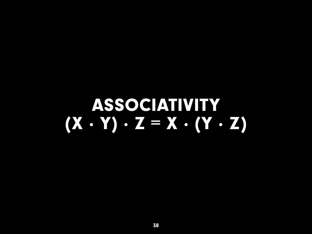 ASSOCIATIVITY (X · Y) · Z = X · (Y · Z) 38