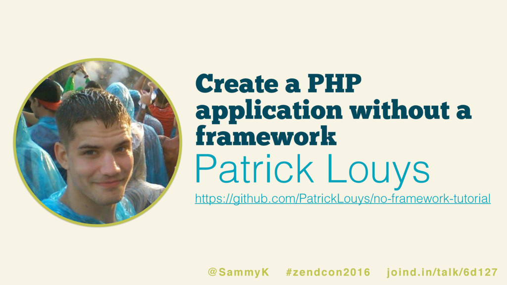 Create a PHP application without a framework ht...