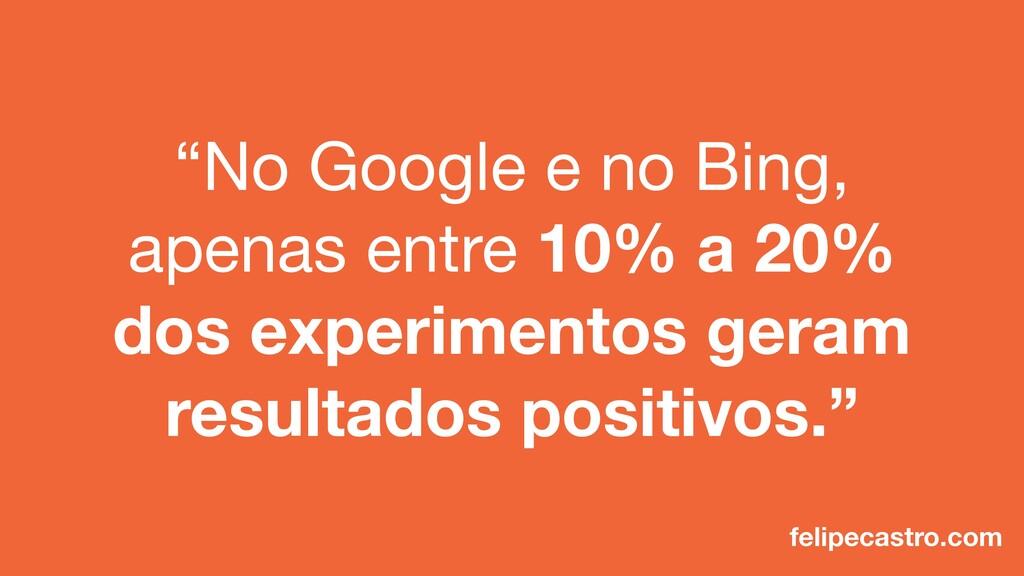 """""""No Google e no Bing, apenas entre 10% a 20% do..."""