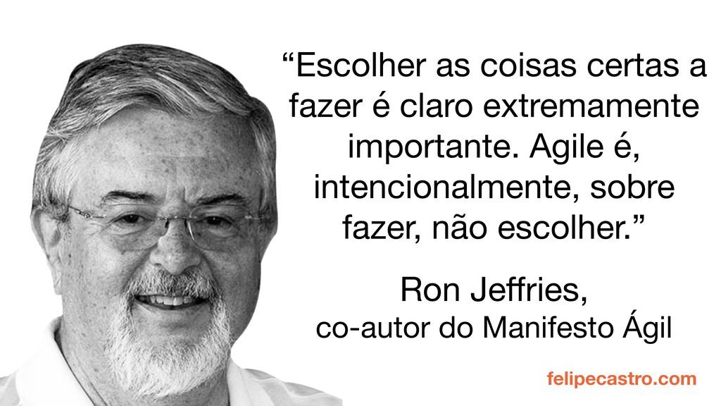 felipecastro.com Ron Jeffries,   co-autor do Man...