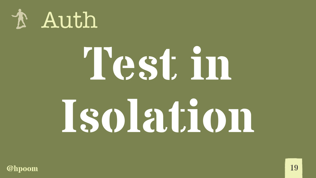@hpoom e Auth Test in Isolation 19