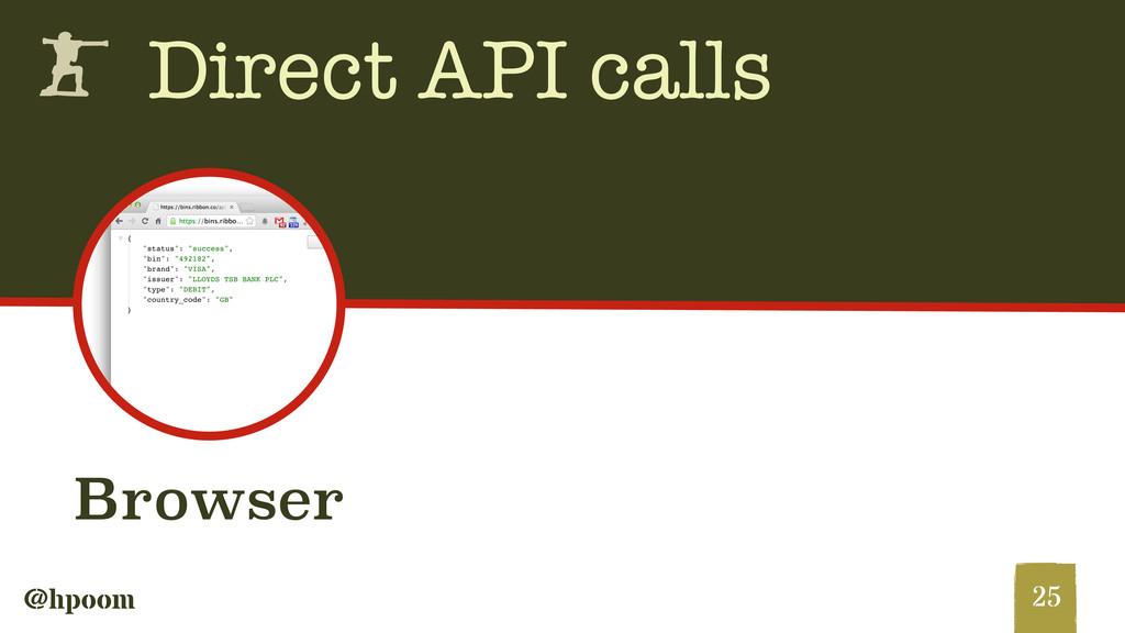 @hpoom h Direct API calls 25 Browser
