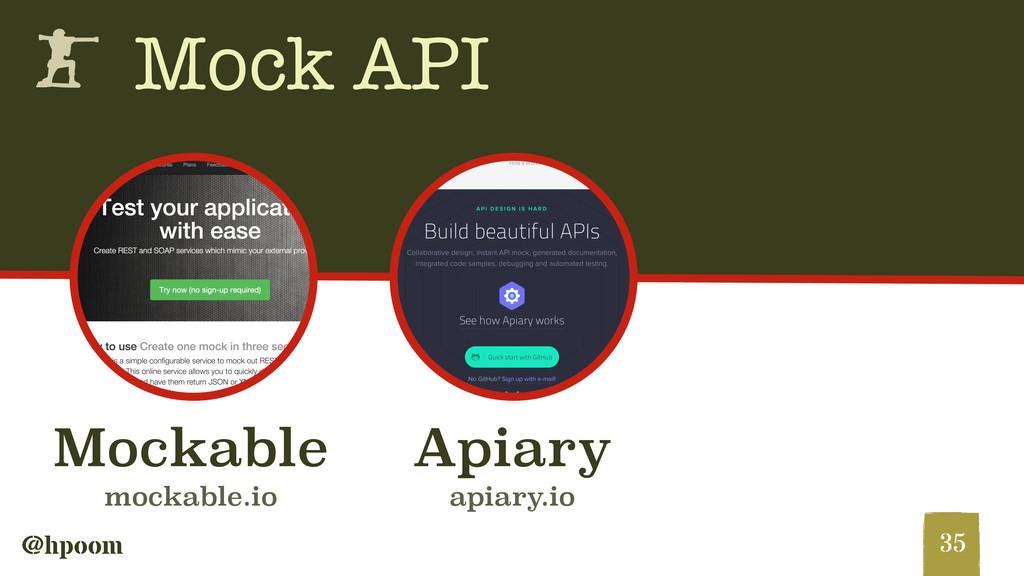 @hpoom h Mock API 35 Apiary apiary.io Mockable ...