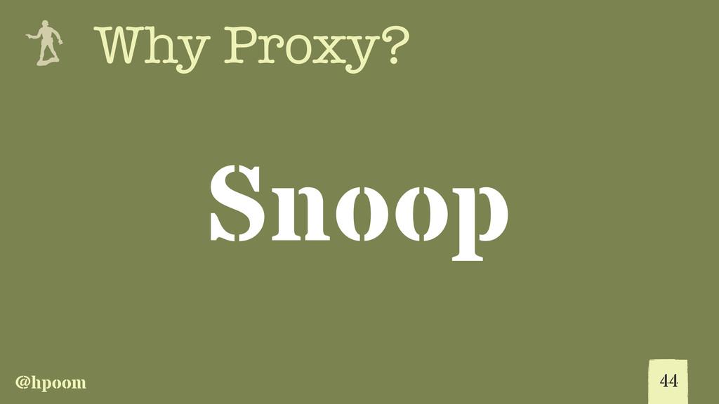 @hpoom e Why Proxy? Snoop 44