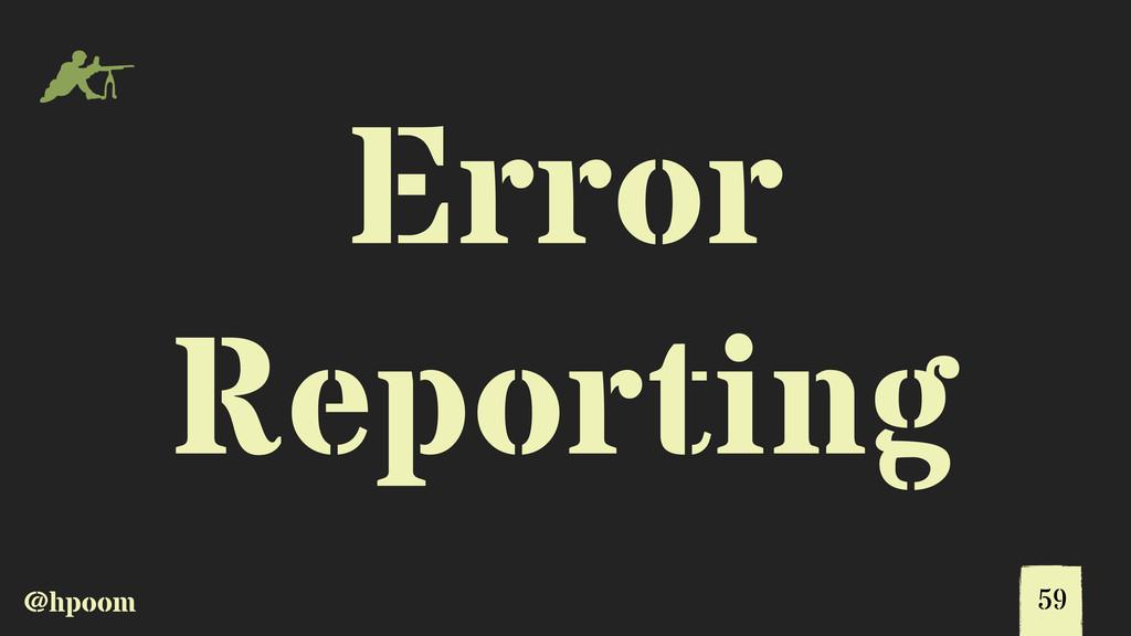 @hpoom m Error Reporting 59