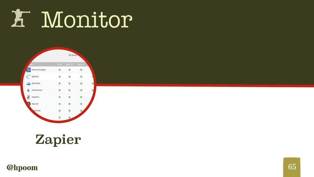 @hpoom h Monitor 65 Zapier