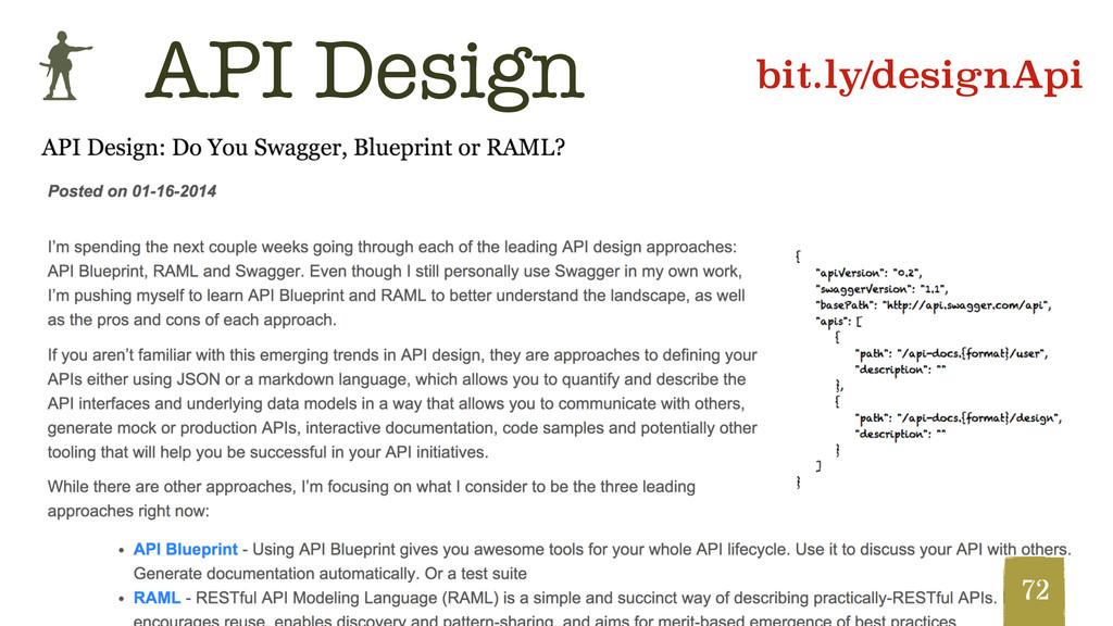 b @hpoom 72 API Design bit.ly/designApi