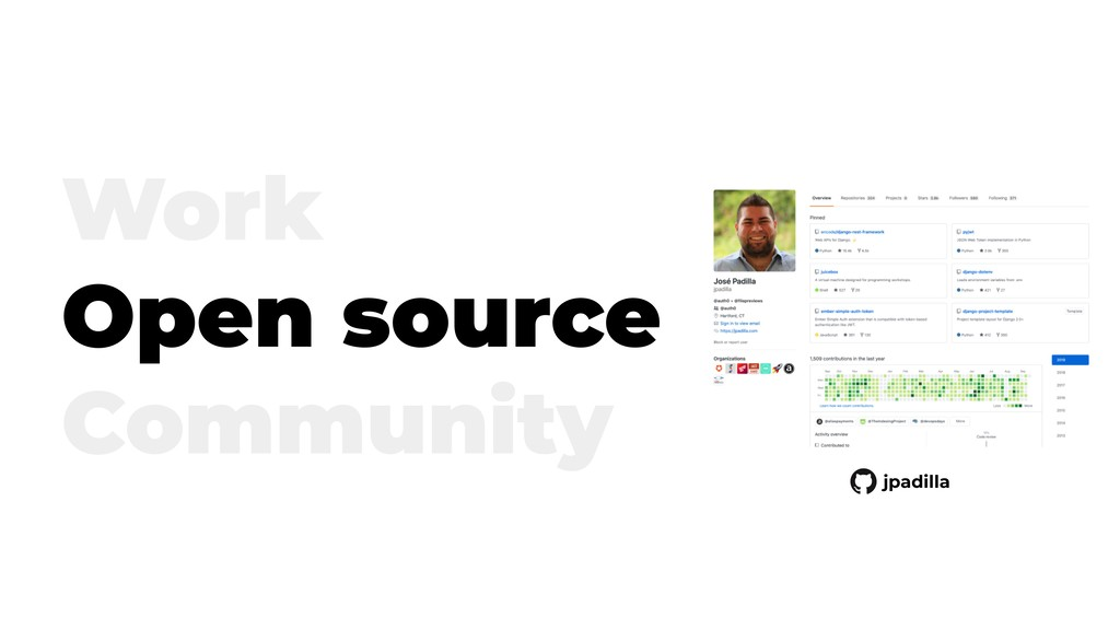 Work Open source Community jpadilla