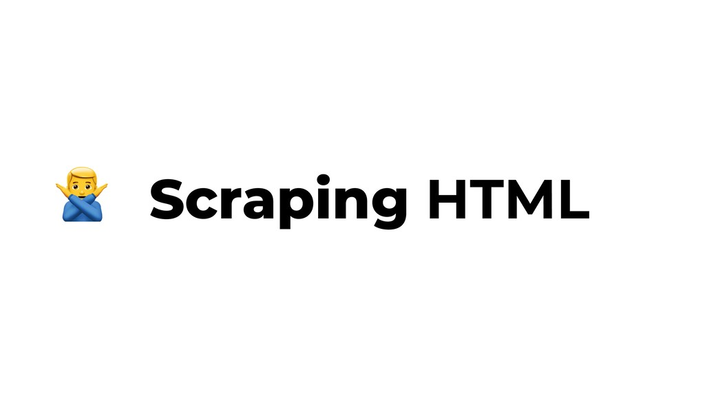 Scraping HTML $