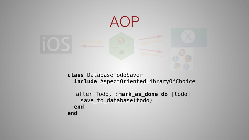 AOP class DatabaseTodoSaver include AspectOrien...