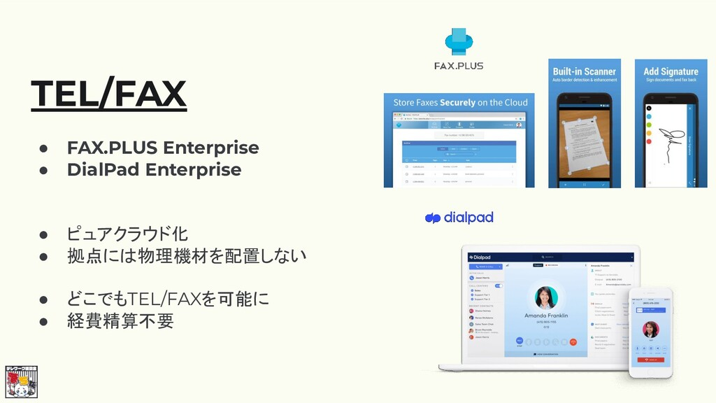 TEL/FAX ● FAX.PLUS Enterprise ● DialPad Enterpr...