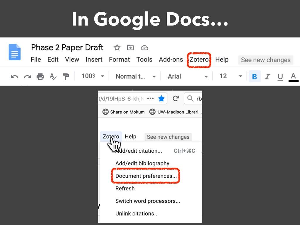 In Google Docs…