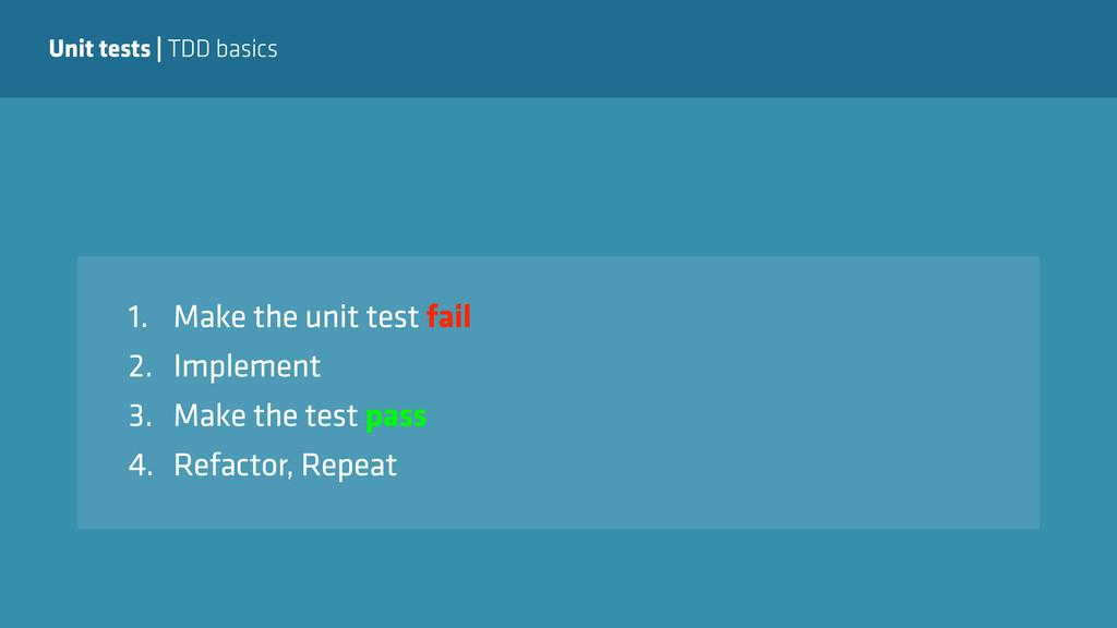 Unit tests | TDD basics 1. Make the unit test f...