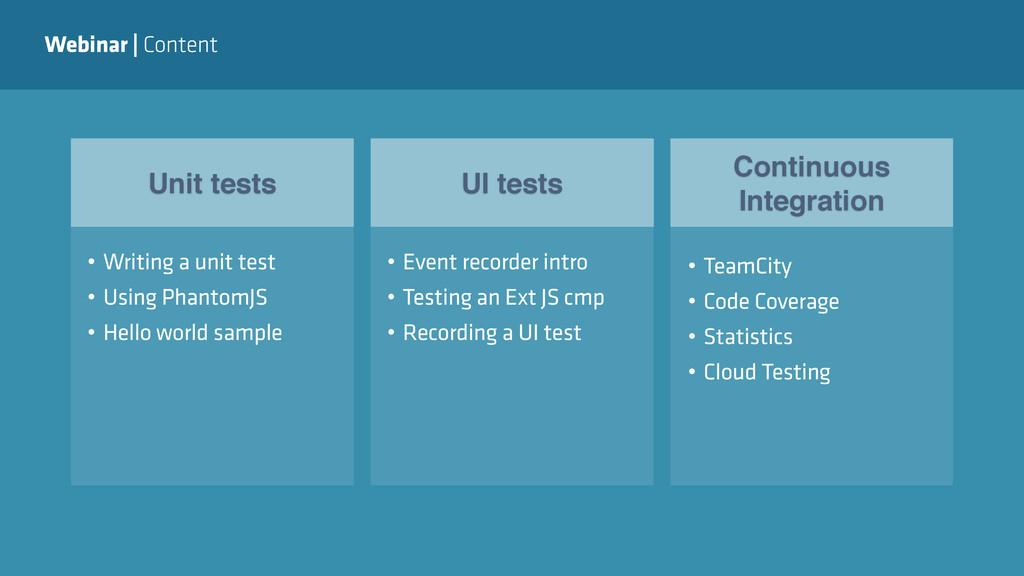 Webinar | Content Unit tests UI tests Continuou...