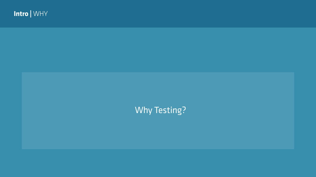 Intro | WHY Why Testing?