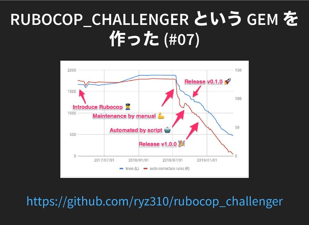 RUBOCOP_CHALLENGER という GEM を RUBOCOP_CHALLENGER...