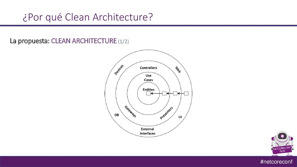#netcoreconf ¿Por qué Clean Architecture? La pr...