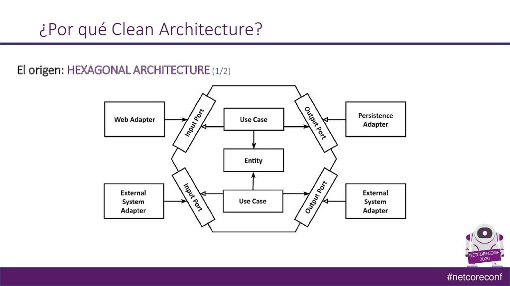#netcoreconf ¿Por qué Clean Architecture? El or...
