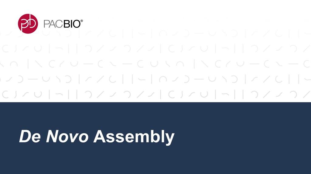 De Novo Assembly