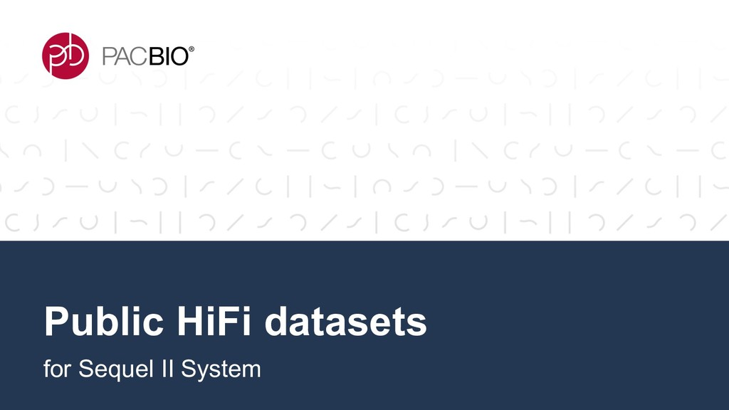 Public HiFi datasets for Sequel II System