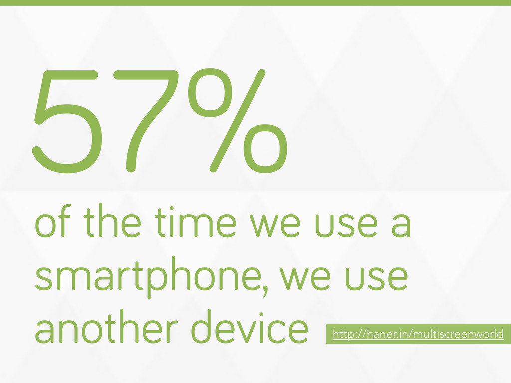 57% of the time we use a smartphone, we use ano...