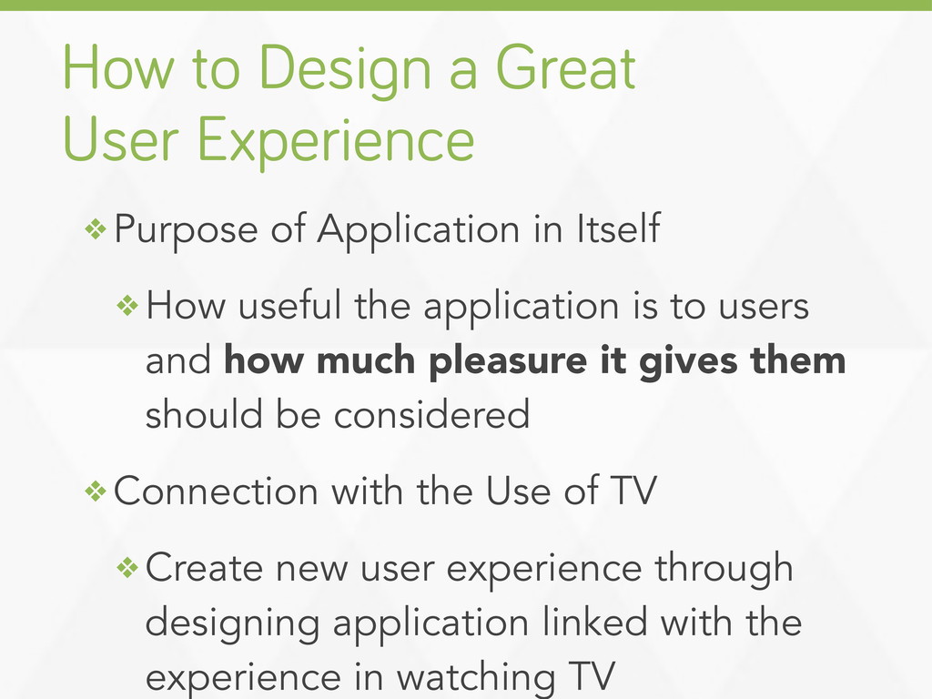 ❖ Purpose of Application in Itself ❖ How useful...
