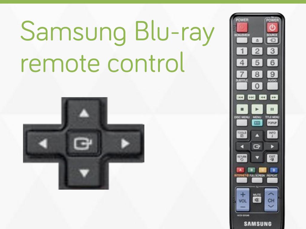 Samsun Blu-ray remote control
