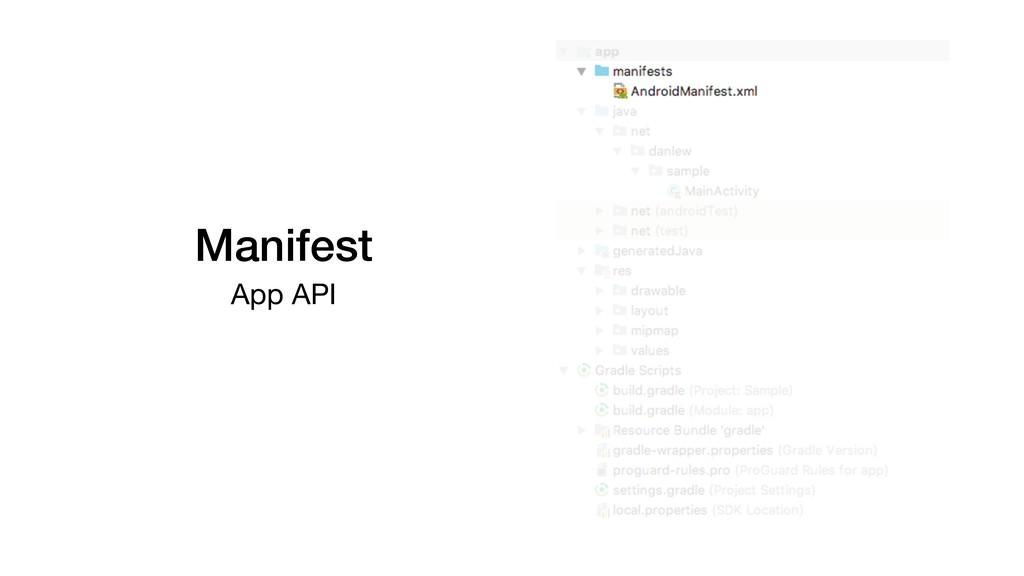 Manifest App API