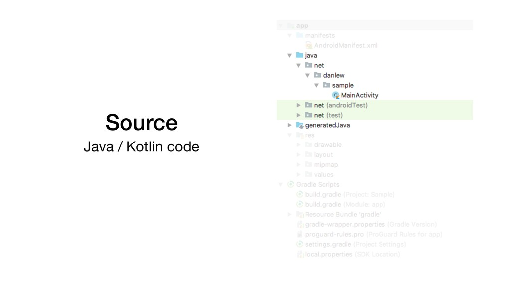 Source Java / Kotlin code